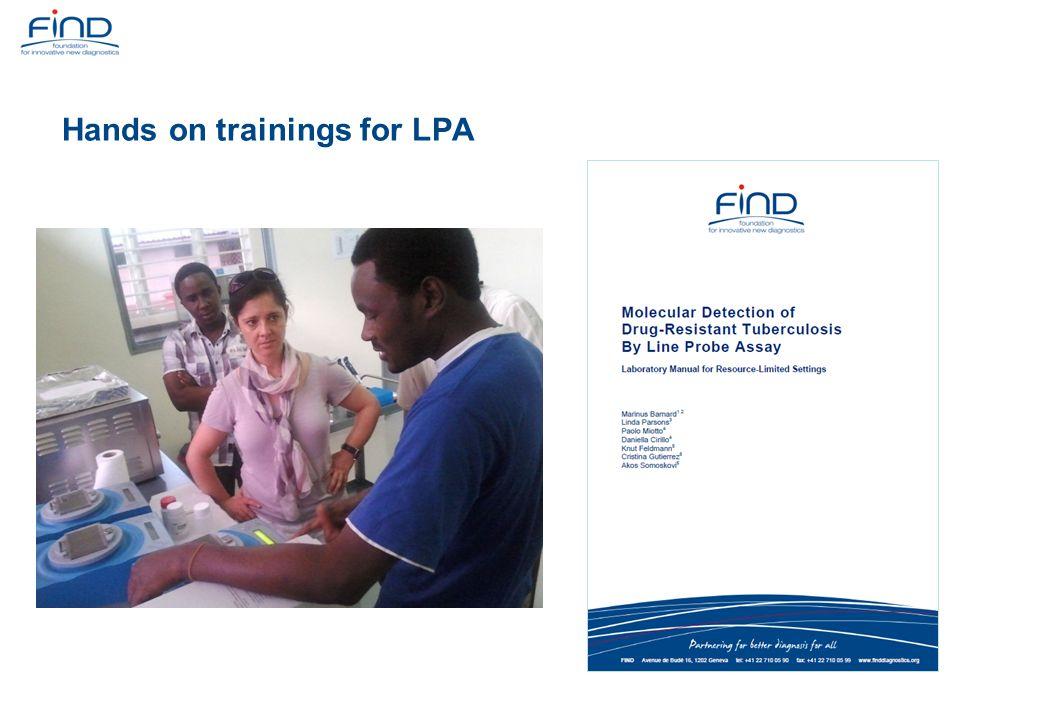 Hands on trainings for LPA