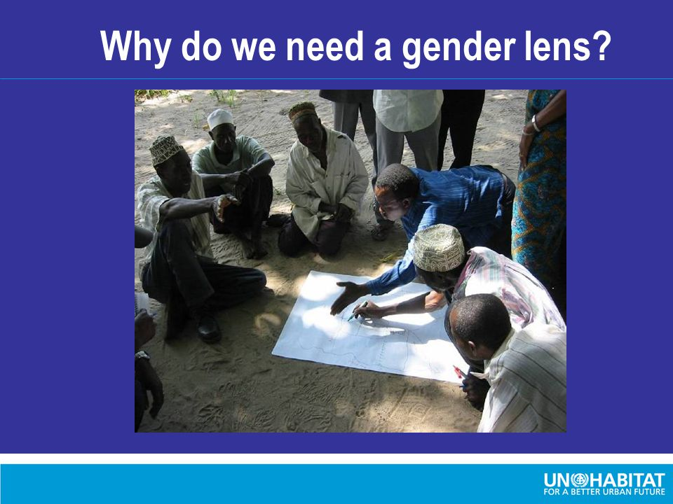 Why do we need a gender lens