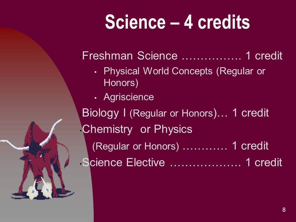 Sample Block Schedule for a 9 th Grader 19 Period1 st Semester2 nd Semester 1English IFreshman Science 2Algebra IAAlgebra IB 3ElectiveLifetime Wellness 4World HistoryElective