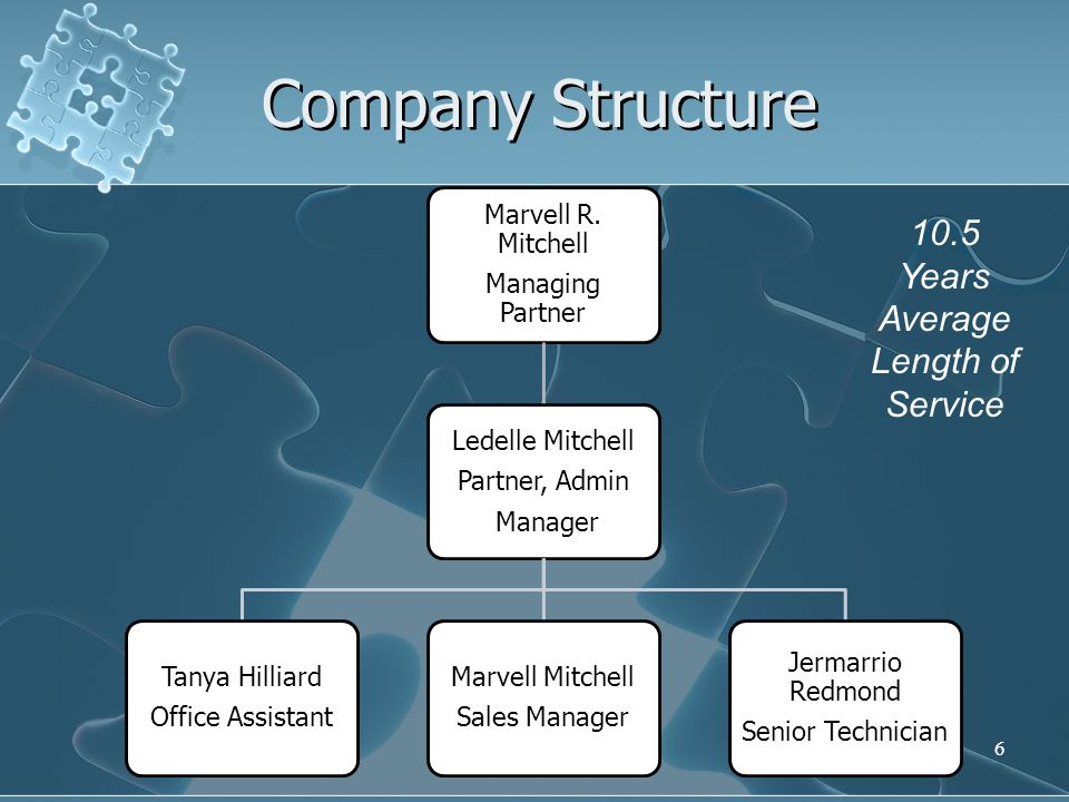 6 Company Structure Marvell R.