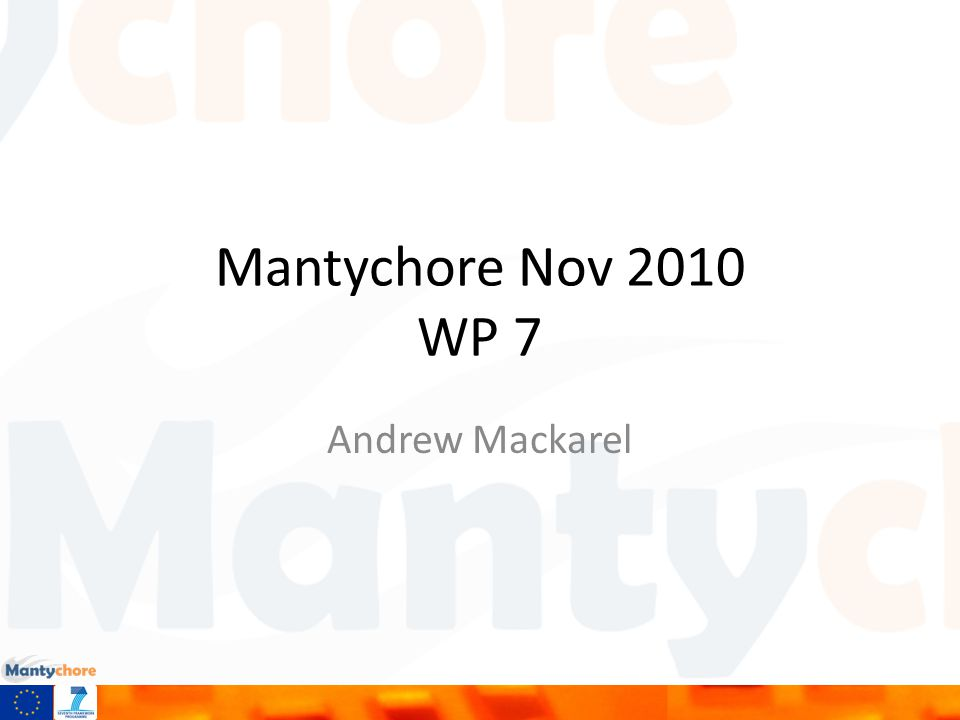 Mantychore Nov 2010 WP 7 Andrew Mackarel