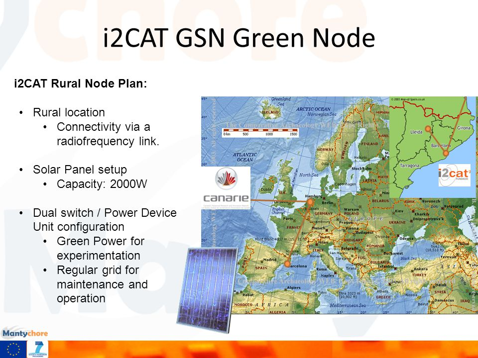 i2CAT GSN Green Node i2CAT Rural Node Plan: Rural location Connectivity via a radiofrequency link.