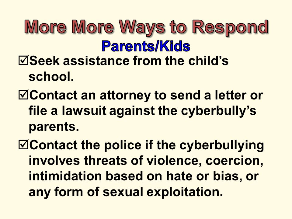  Seek assistance from the child's school.