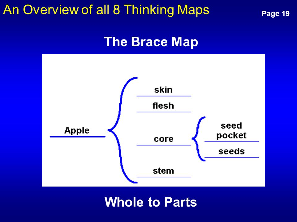 An Overview of all 8 Thinking Maps Page 19 Whole to Parts The Brace Map