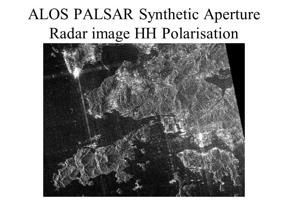 ALOS PALSAR Synthetic Aperture Radar image HH Polarisation