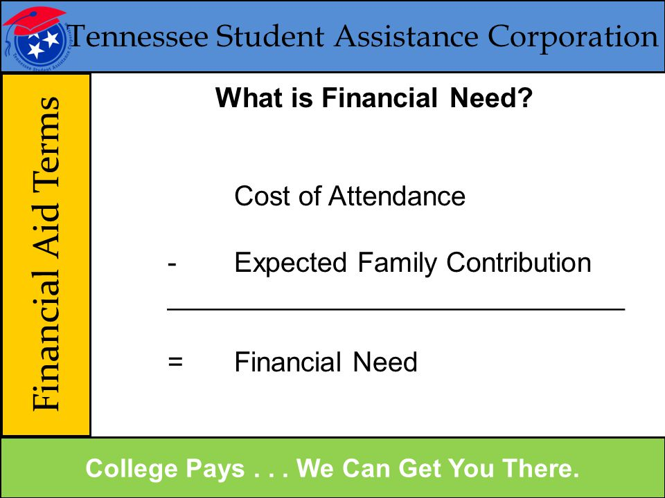 Tennessee Student Assistance Corporation Financial Aid Terms College Pays...