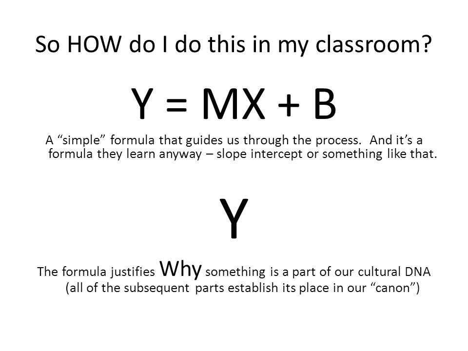 So HOW do I do this in my classroom.