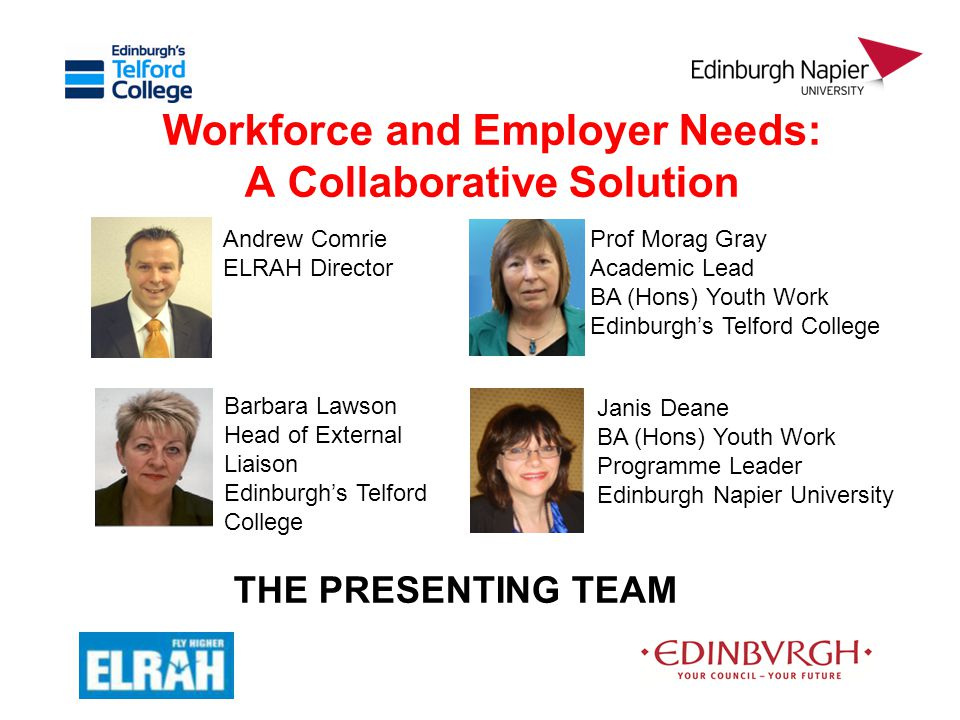 Part 4: Delivering the Youth Work Programme Janis Deane Programme Leader Edinburgh Napier University