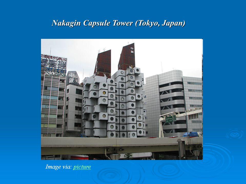 Nakagin Capsule Tower (Tokyo, Japan) Image via: picturepicture