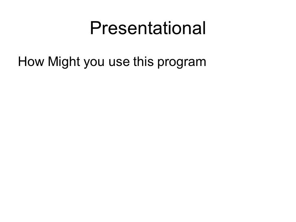 Presentational Skill One Skill Two Skill Three