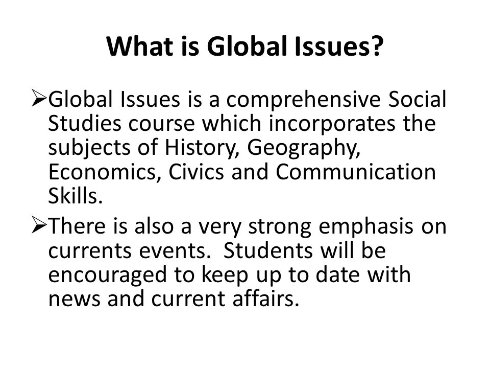 (1) HISTORY Understanding Goals Students will understand patterns of change & continuity; relationships between people and events through time; and various interpretations of these relationships.