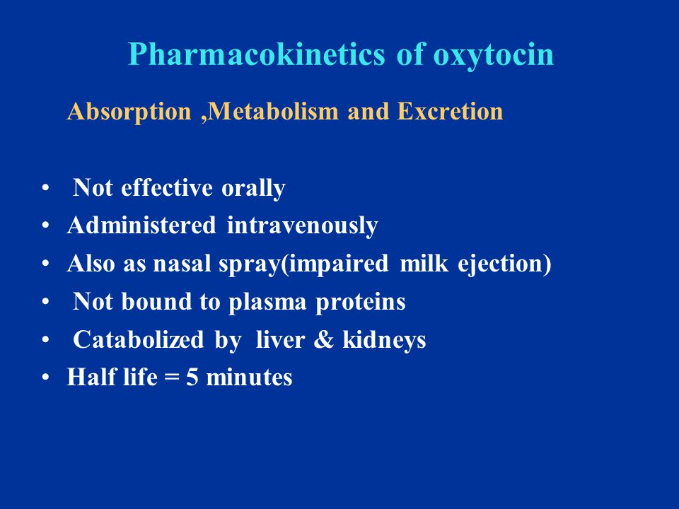 Role of oxytocin Uterus Stimulates both the frequency and force of uterine contractility particularly of the fundus segment of the uterus.