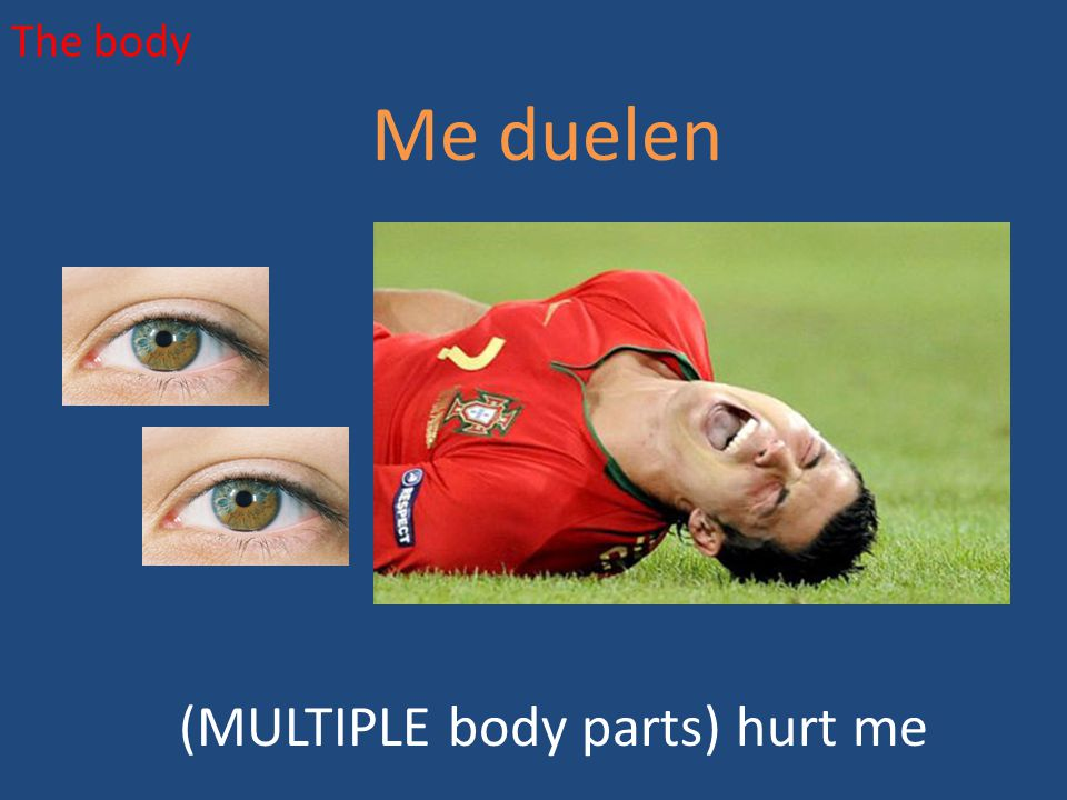 The body Me duelen (MULTIPLE body parts) hurt me