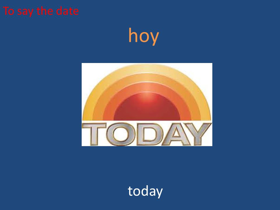 To say the date hoy today