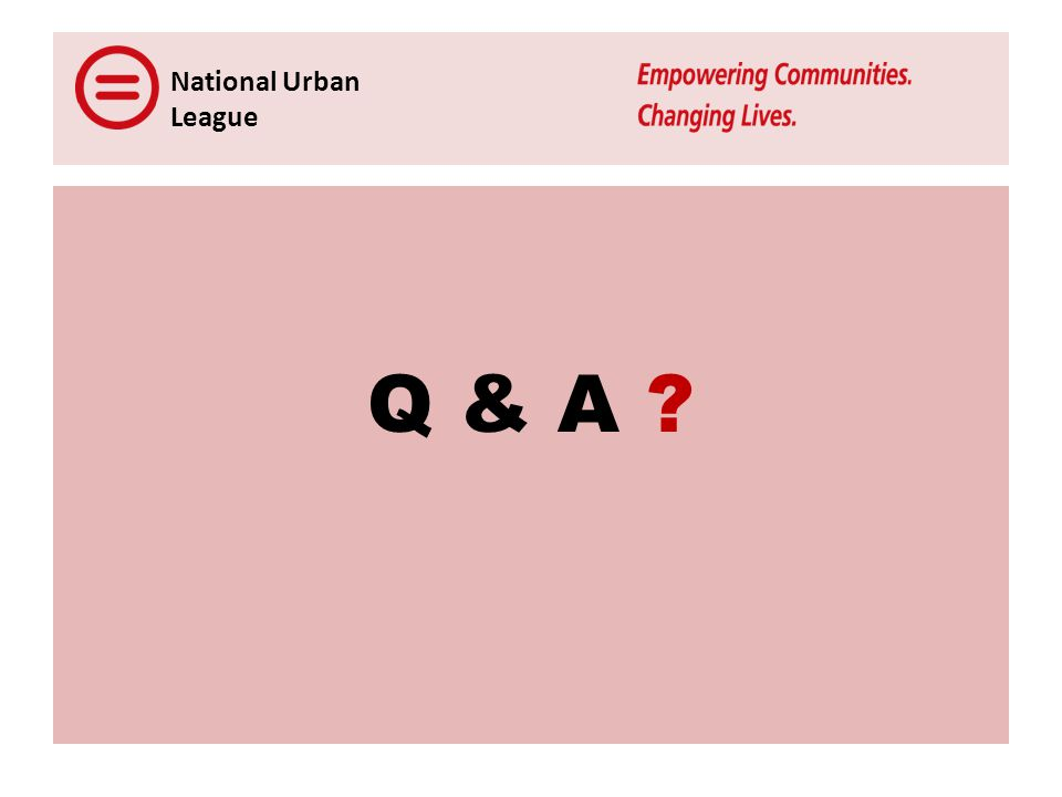 National Urban League Q & A