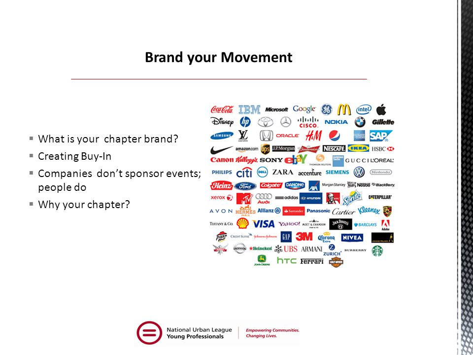  What is your chapter brand.