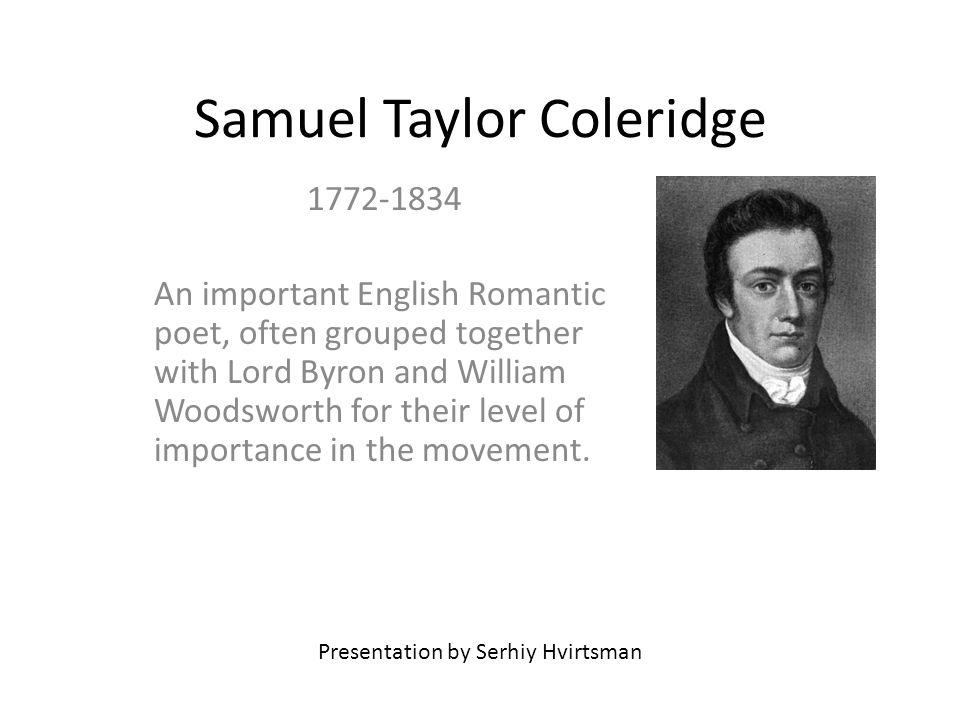 No, no...However, Coleridge died in 1834. – Bernard, p.