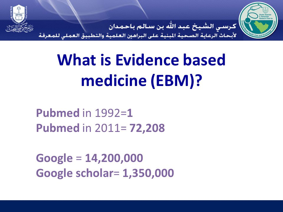 What is Evidence based medicine (EBM).