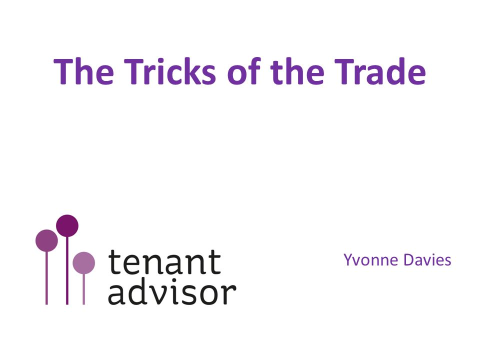 The Tricks of the Trade Yvonne Davies
