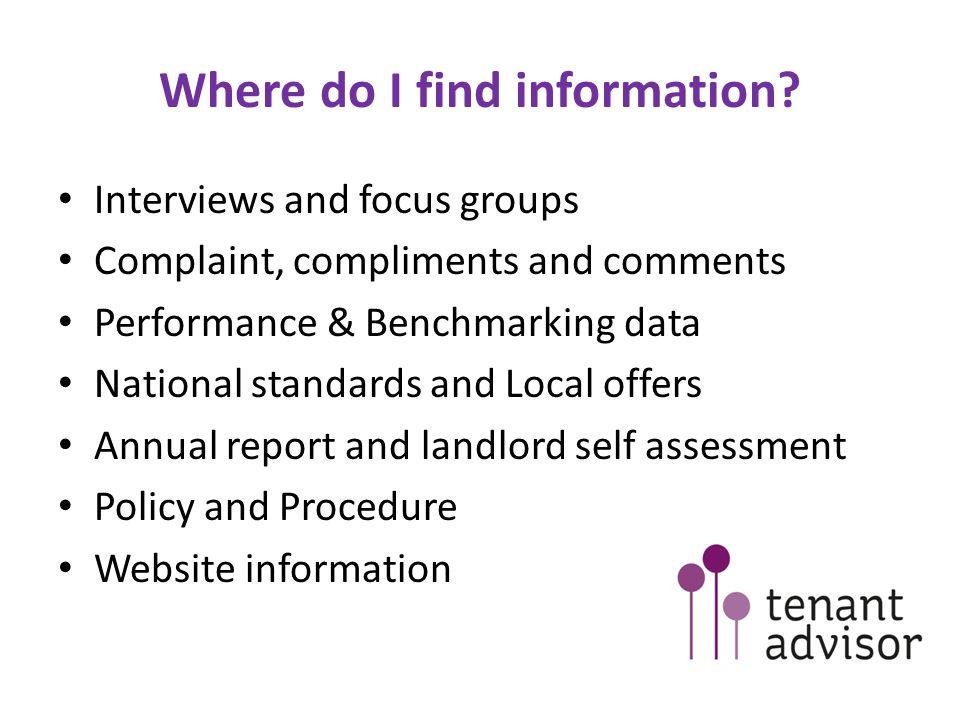 Where do I find information.