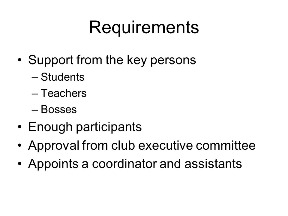 Key persons-Members and Teacher