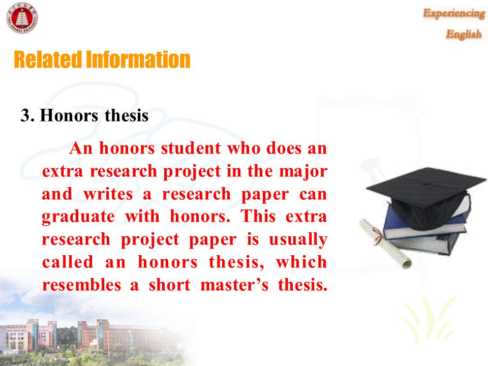 Related Information 2. ways to graduate with honors In U.