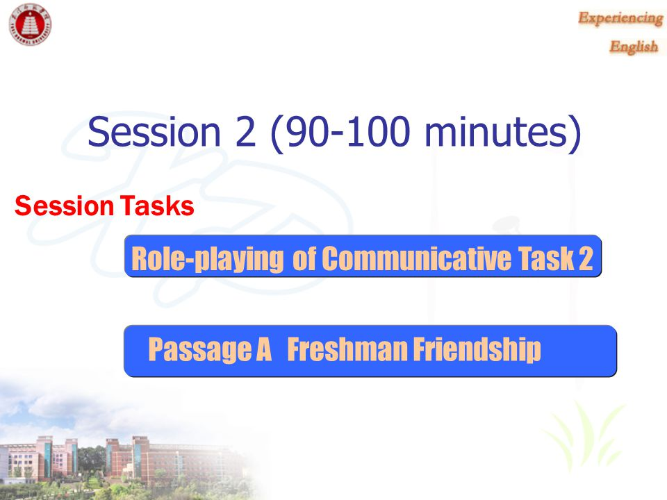 Session 2 (90-100 minutes)