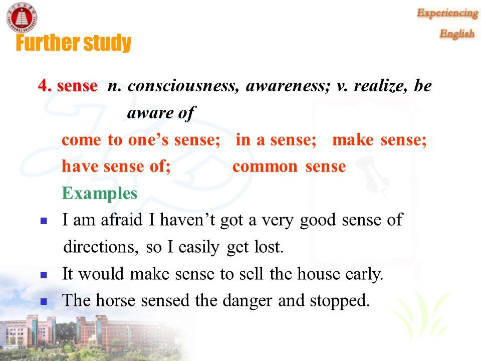 Further study 3. sympathy 3. sympathy n.