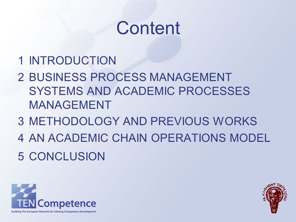 Introduction This paper presents one approach for modeling the educational processes as a value added chain.