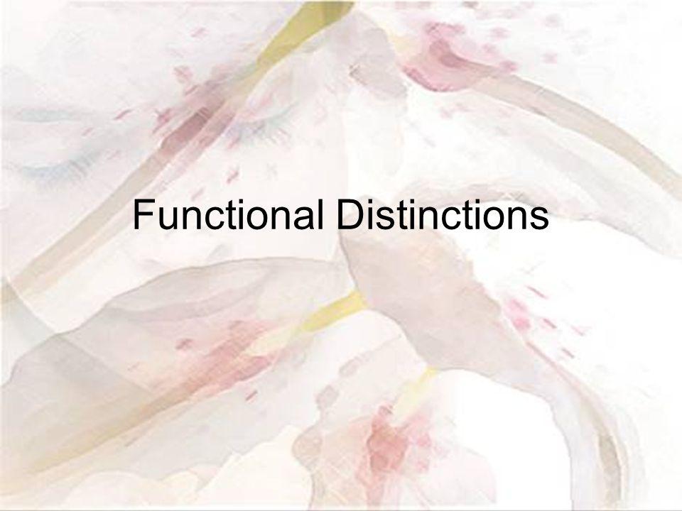 Functional Distinctions