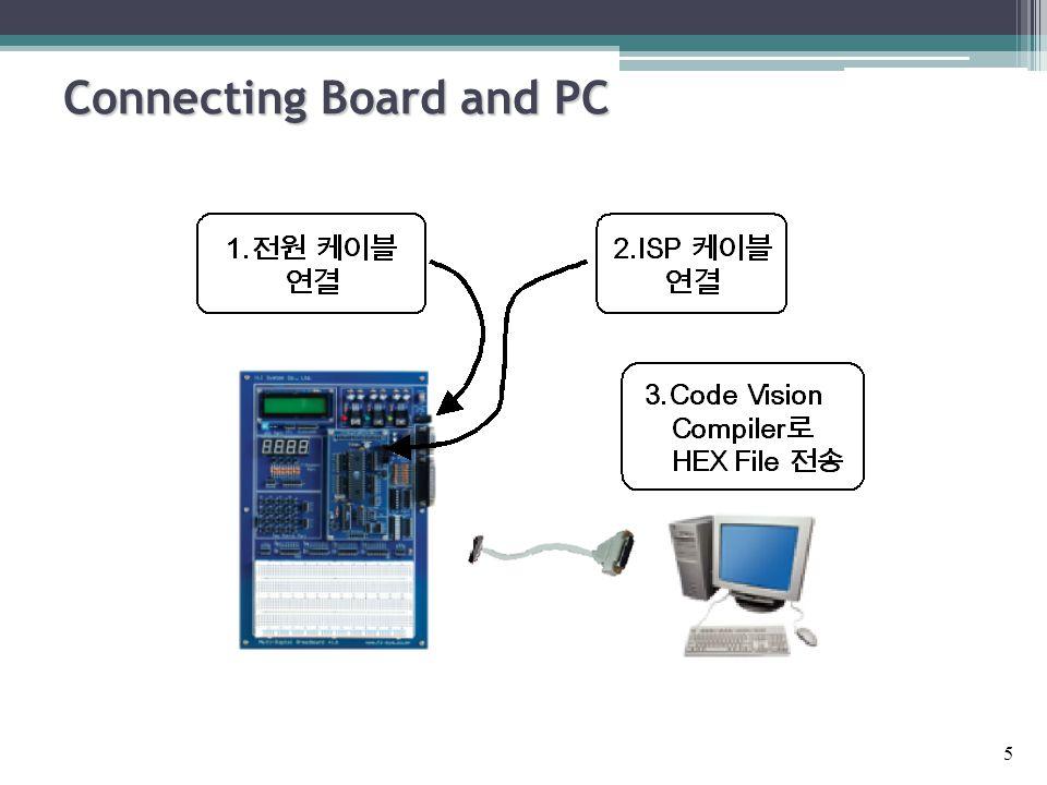  다음과 같이 DIP 스위치의 입력을 LED 로 출력하라. 위의 프로그램을 수정하여 DIP 스위치 입력을 반전하여 LED 로 출력 하라.