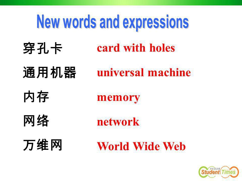 穿孔卡 通用机器 内存 网络 万维网 card with holes universal machine memory network World Wide Web