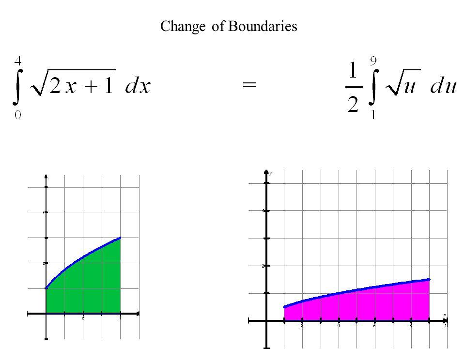Formal Change of Variables > Rewrite in terms of u - du NEW :Definite Integrals