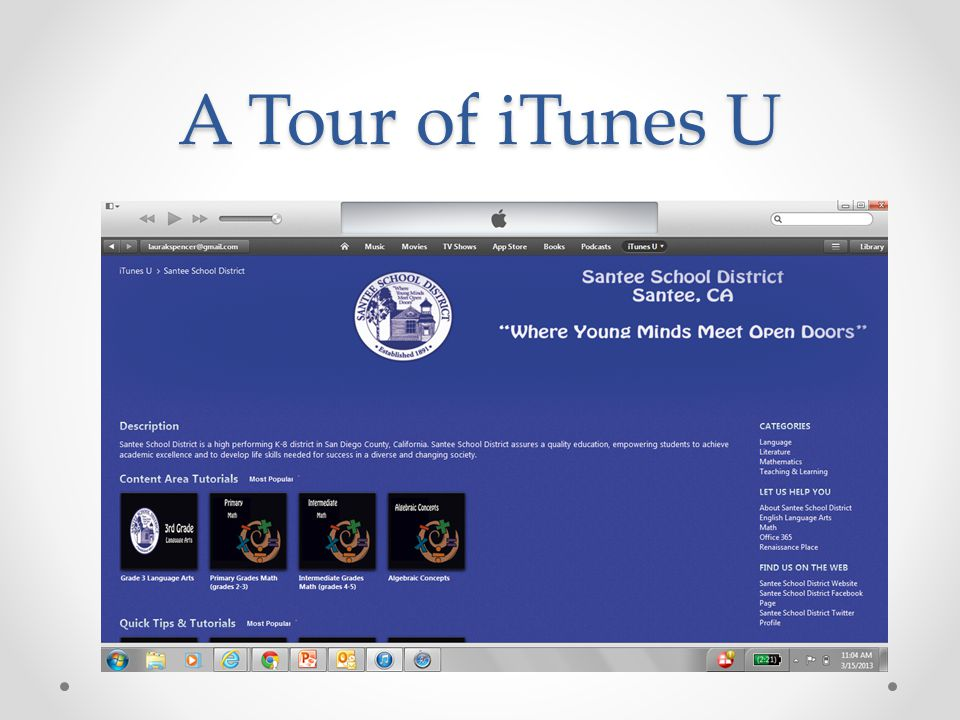 A Tour of iTunes U