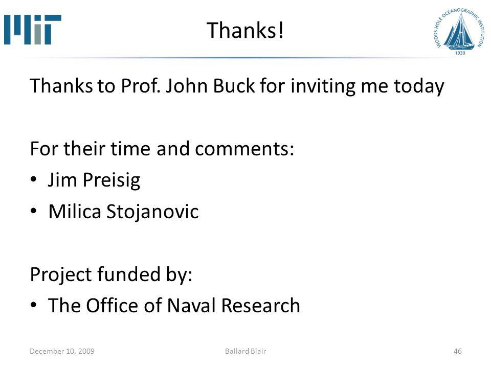Thanks.Thanks to Prof.