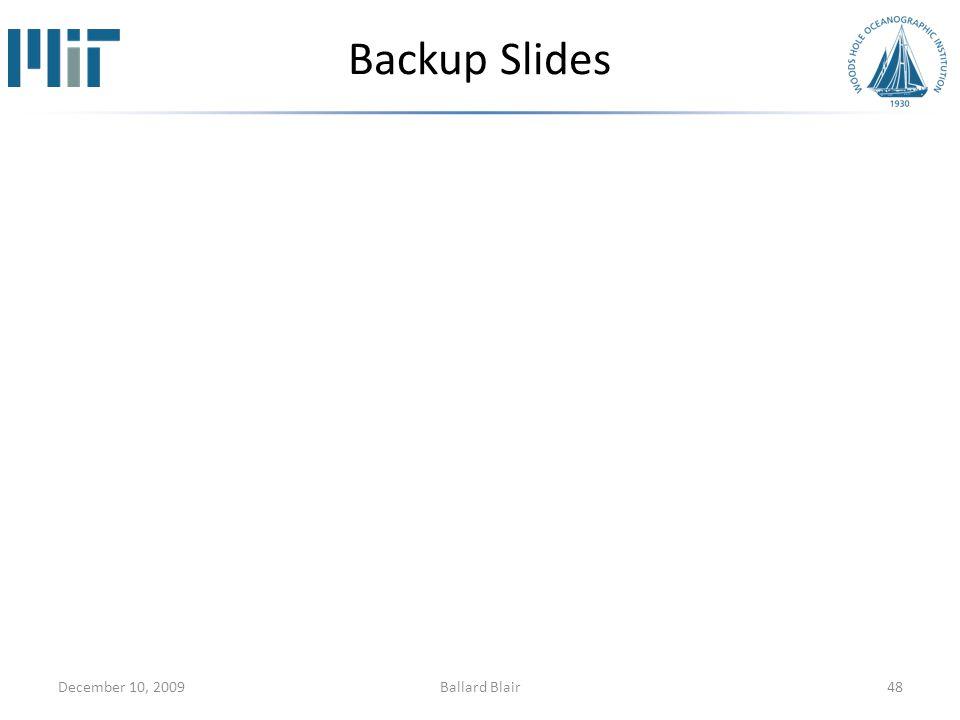 Backup Slides December 10, 200948Ballard Blair