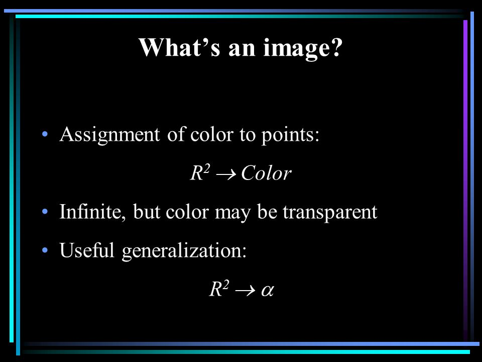 What's an image.