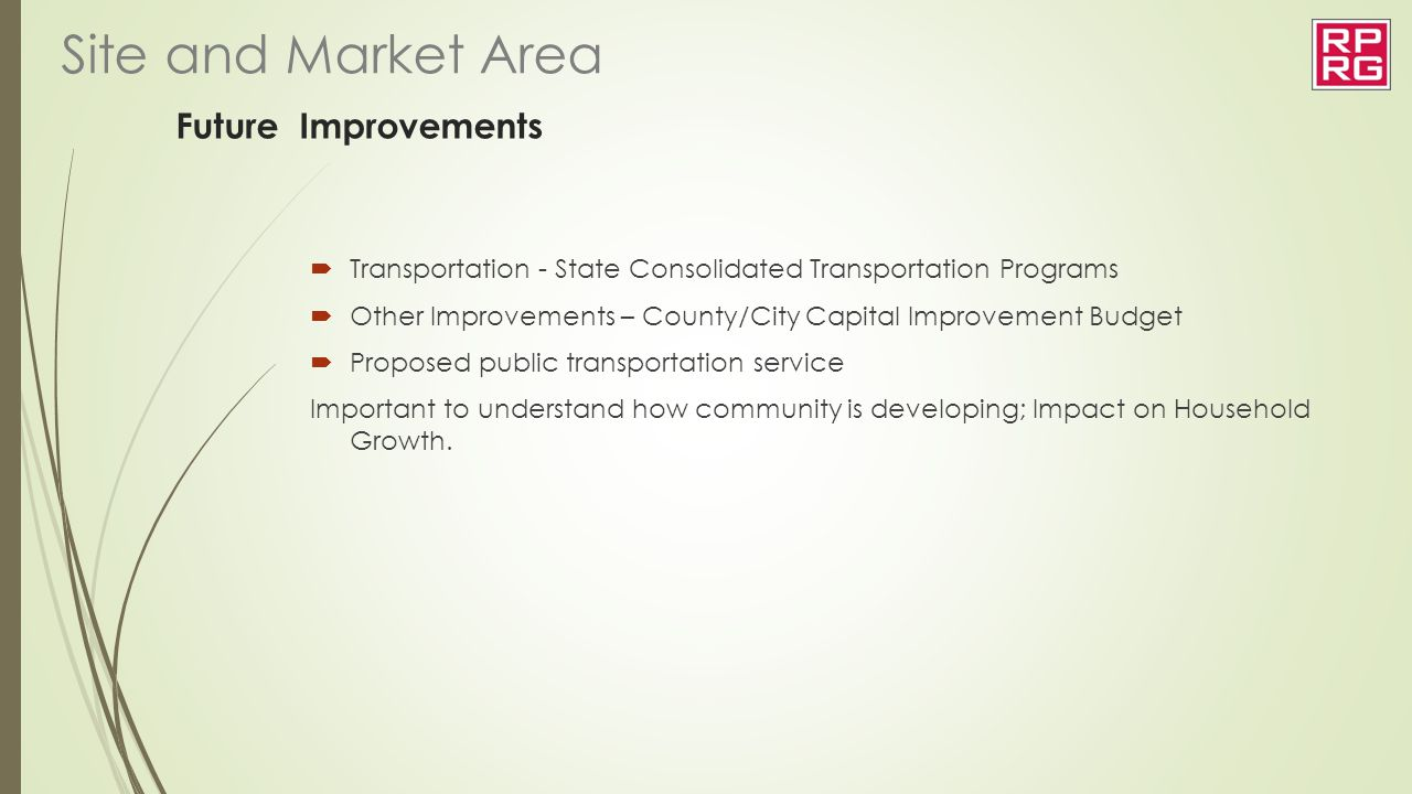 Future Improvements  Transportation - State Consolidated Transportation Programs  Other Improvements – County/City Capital Improvement Budget  Prop