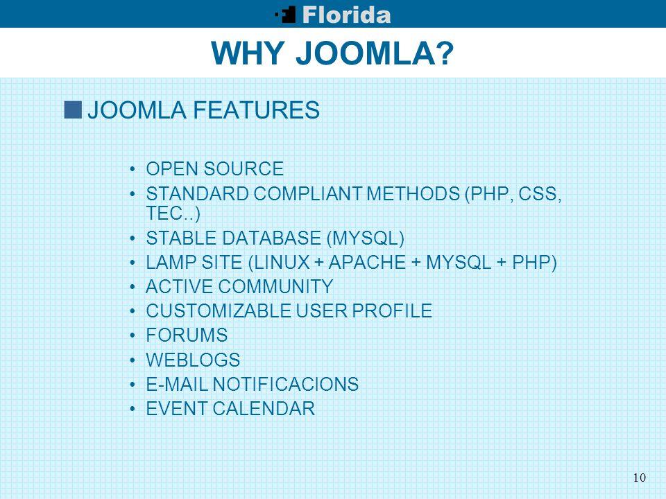 10 WHY JOOMLA.