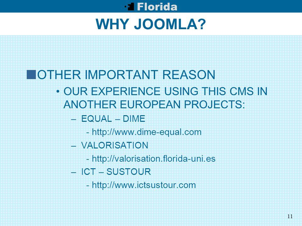 11 WHY JOOMLA.