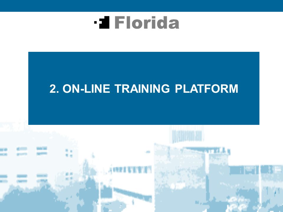 2. ON-LINE TRAINING PLATFORM