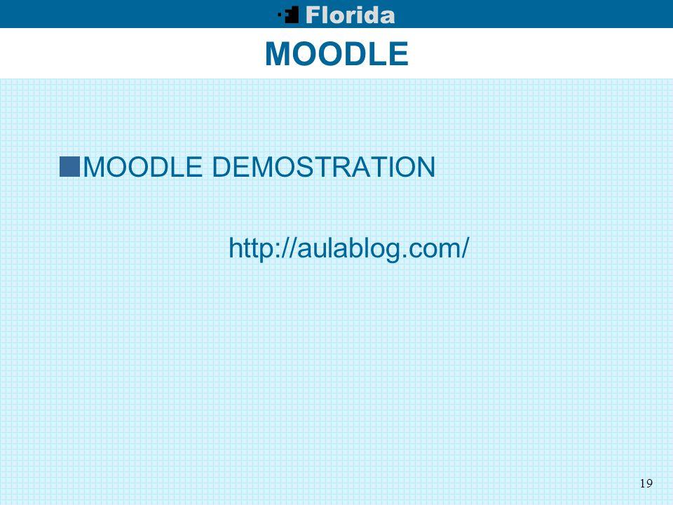 19 MOODLE MOODLE DEMOSTRATION http://aulablog.com/