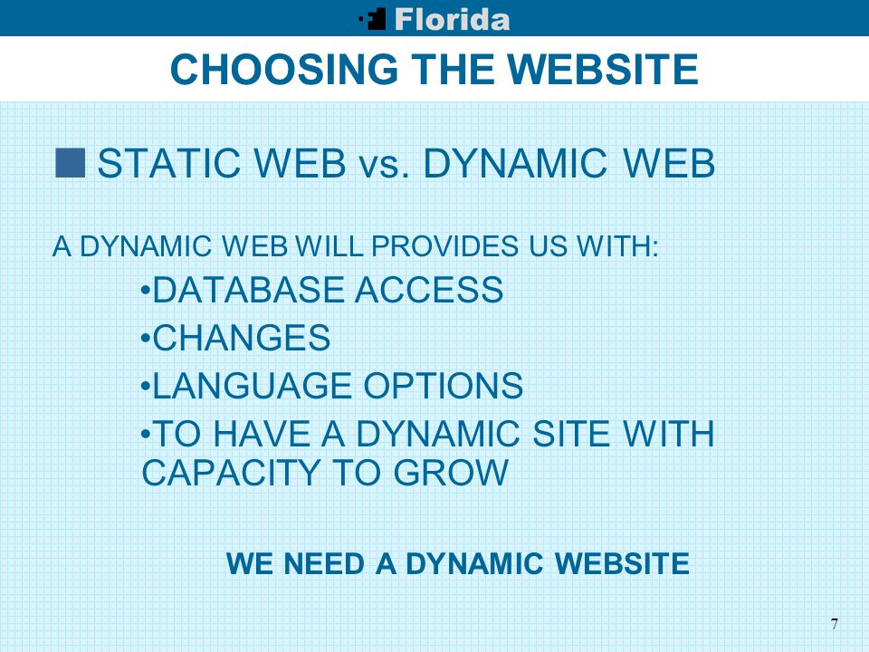 8 CHOOSING THE WEBSITE WHO IS IN CHARGE OF THE CONTENT OF THE WEBSITE.