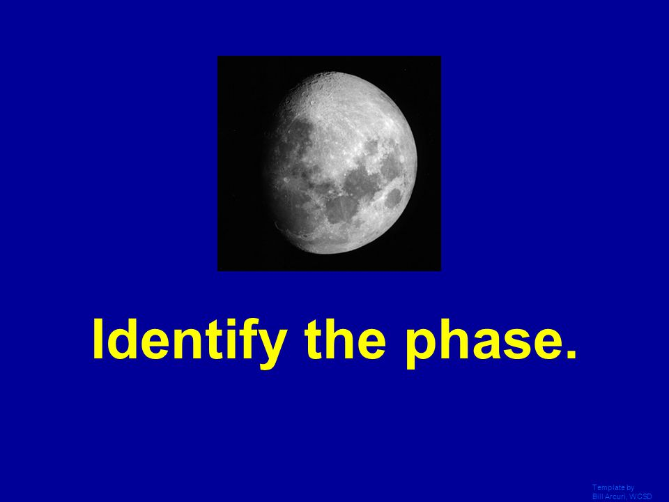 Template by Bill Arcuri, WCSD What is the waning crescent?