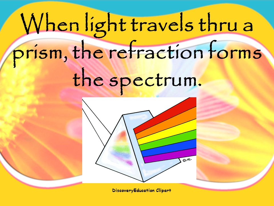 When light passes thru water, it's refracted.