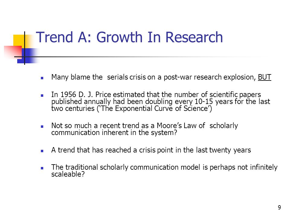 10 Trend A: Growth In Research Also changing geographically In S&E research output (as measured by publication in the world s key journals), the number of U.S.