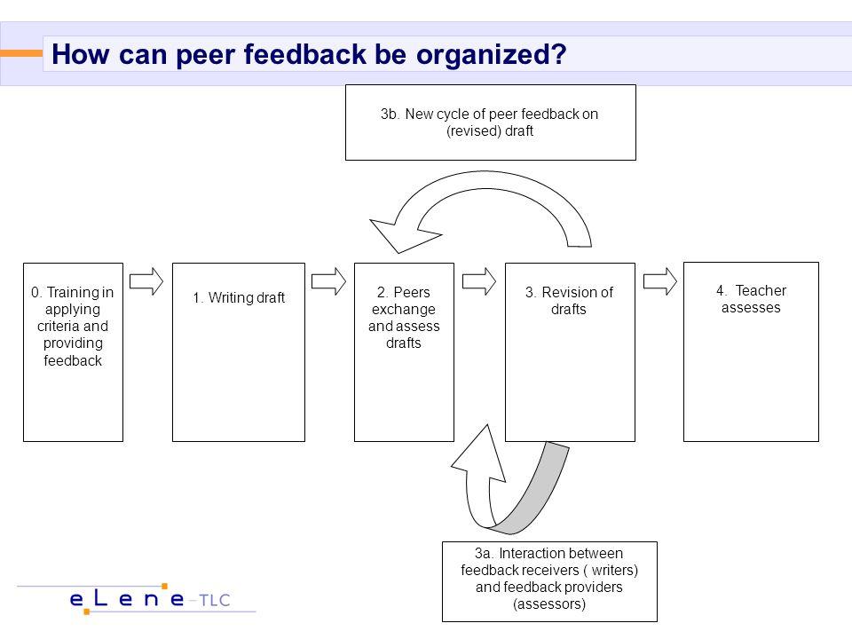 0.Training in applying criteria and providing feedback 1.