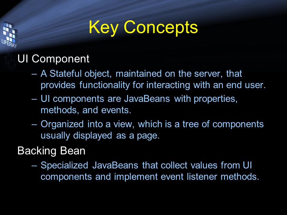 Add JSF UI Components Modify …/ext/portlets/library_jsf.war/index.jsp and add some UI components.