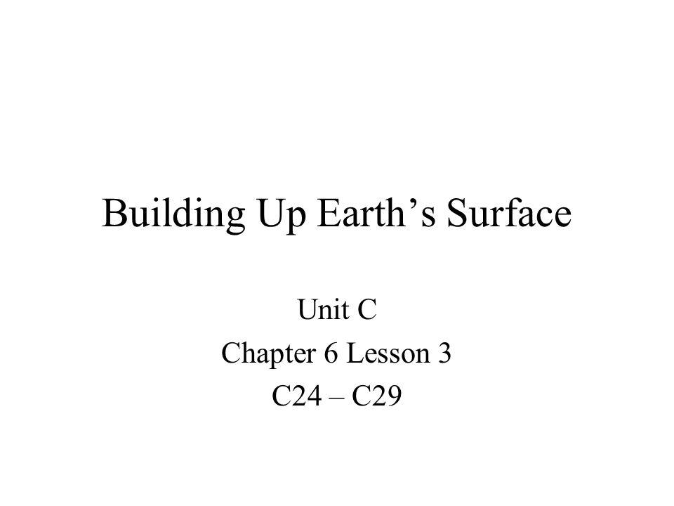 Building Up Earth's Surface Unit C Chapter 6 Lesson 3 C24 – C29