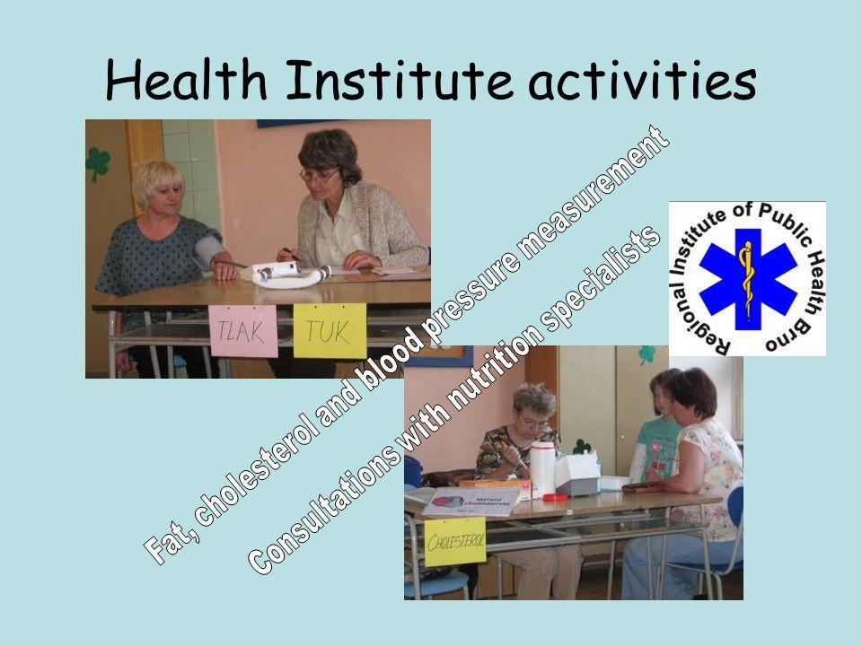 Health Institute activities